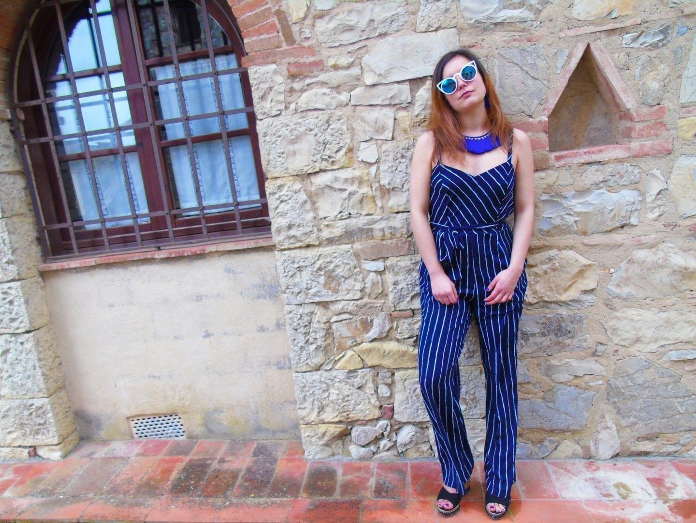5b40ce4664 Black And White Striped Jumpsuit Primark