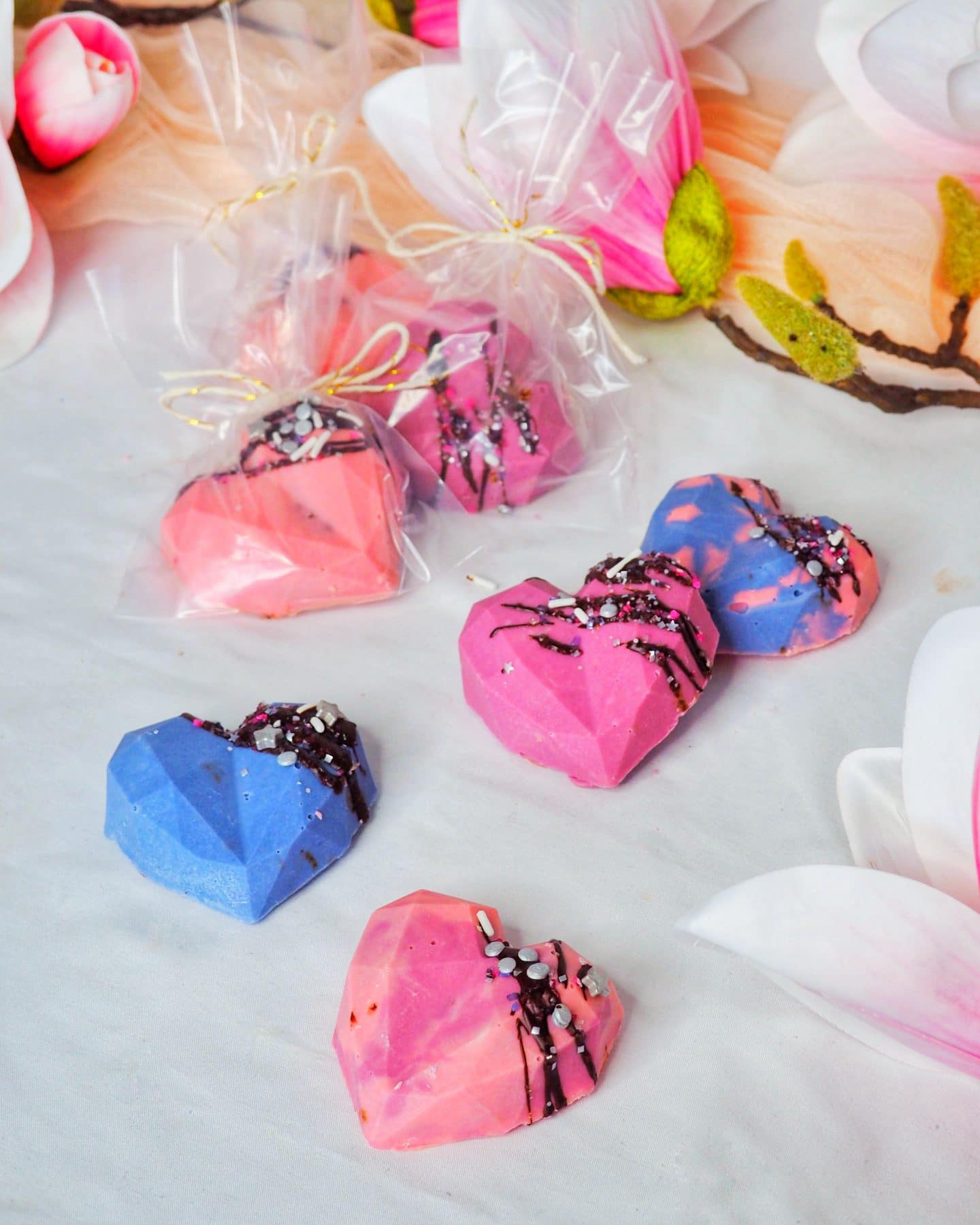 Geometric Diamond Chocolate Hearts Recipe