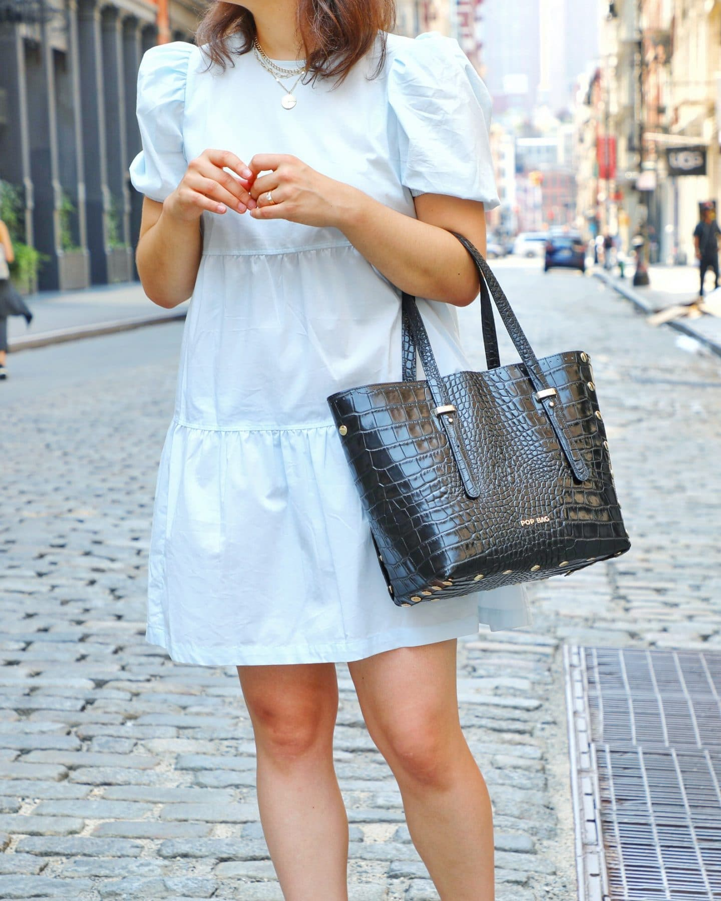 styling one dress with four POP BAGs USA